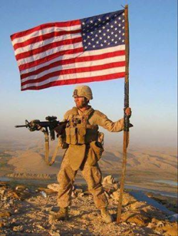 American flag & soldier_2